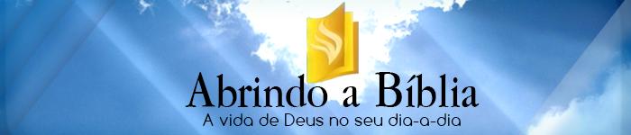 abrindo a biblia